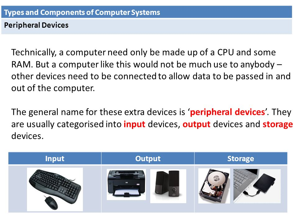 different types of peripheral devices