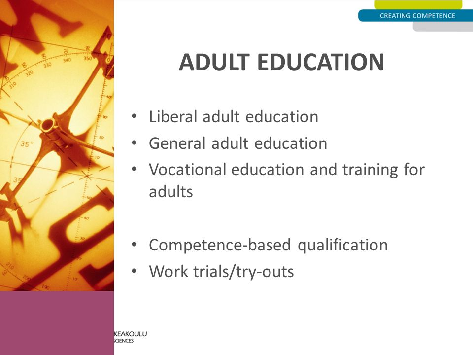 adult and vocational education