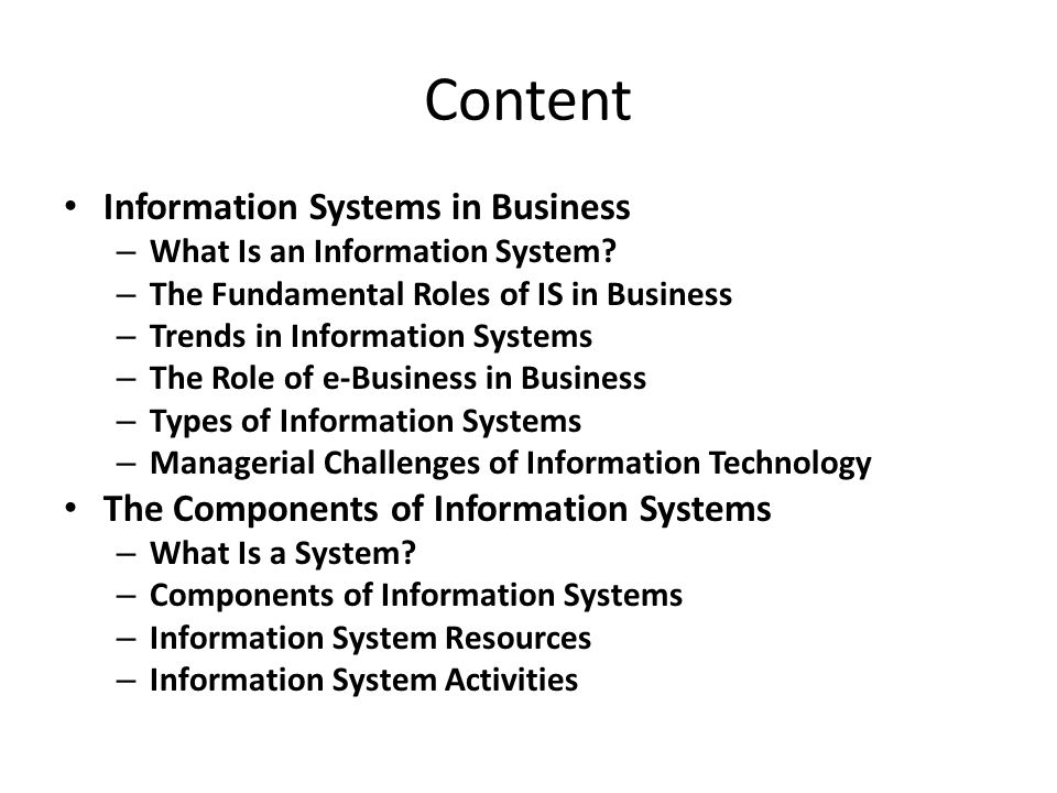 Information Systems - PowerPoint PPT Presentation