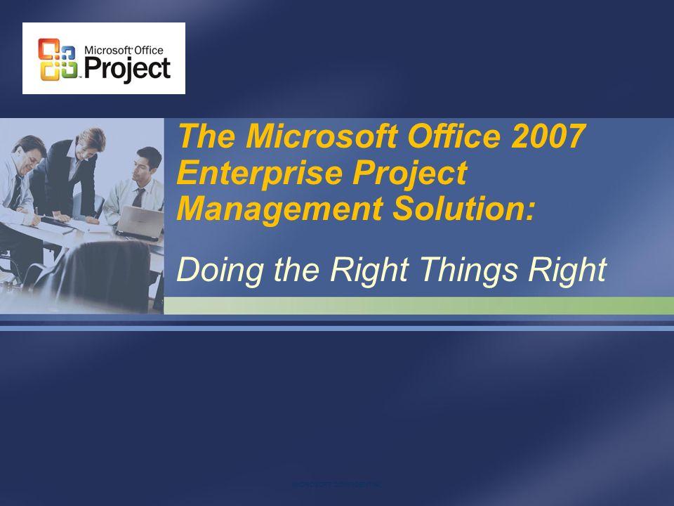 The Microsoft Office 2007 Enterprise Project Management Solution ...