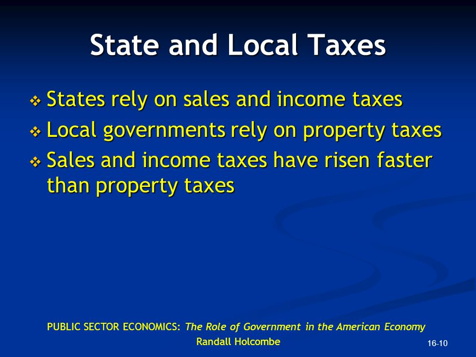 Do State Governments Rely On Property Taxes