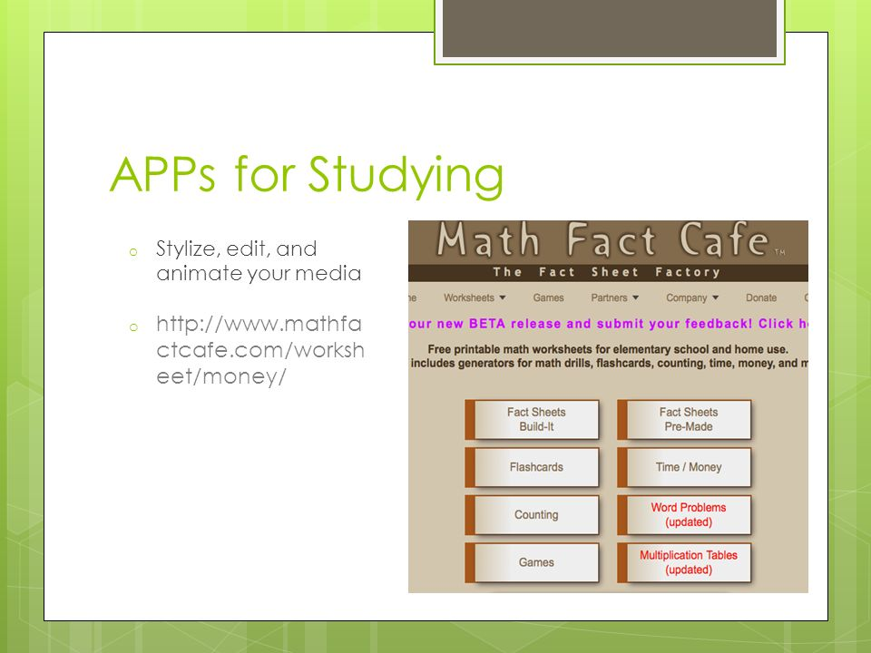 Homework and Study Skills ppt download – Math Fact Cafe Multiplication Worksheets