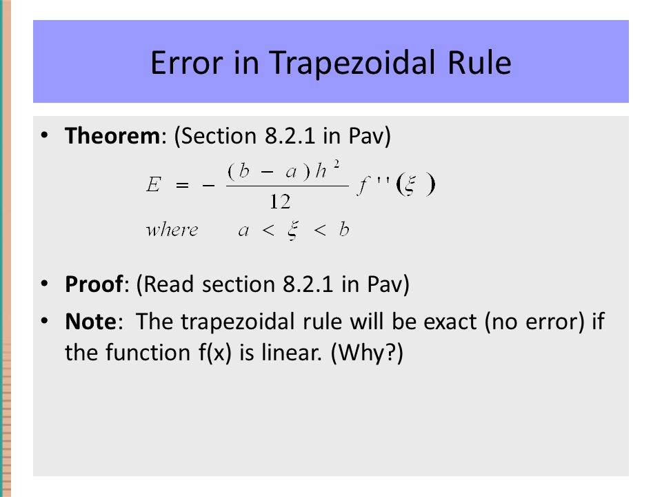 why is the trapezoidal rule pdf