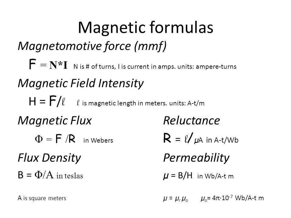 magnetic flux density formula - photo #24