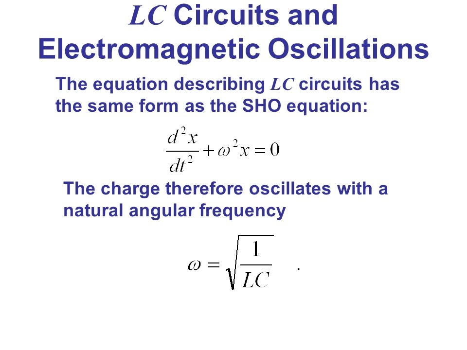 Angular Frequency Formula Electromagnetic Induct...
