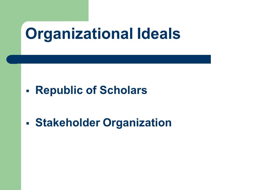 Organizational Ideals