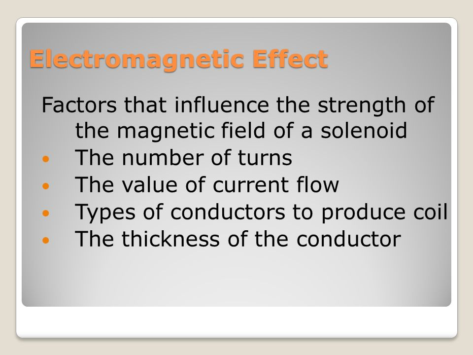 an experiment to determine factors affecting the strength of an electromagnet Can the strength of an electromagnet be changed by changing the voltage of the this experiment magnets_6th_2001.