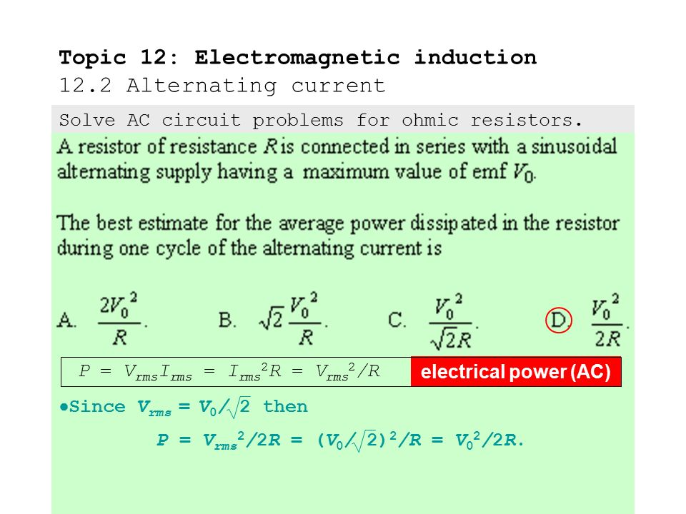 alternating current and dynamically induced voltage Students will already have ideas about electromagnetic induction  lines of flux by a conductor that leads to an induced emf or current  alternating current.