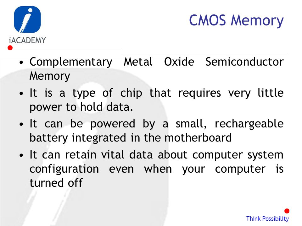 complementary metal oxide semiconductor essay Read a description of cmos this is also known as complementary metal oxide semiconductor, mos, complementary mos free detailed reports on cmos are also available.