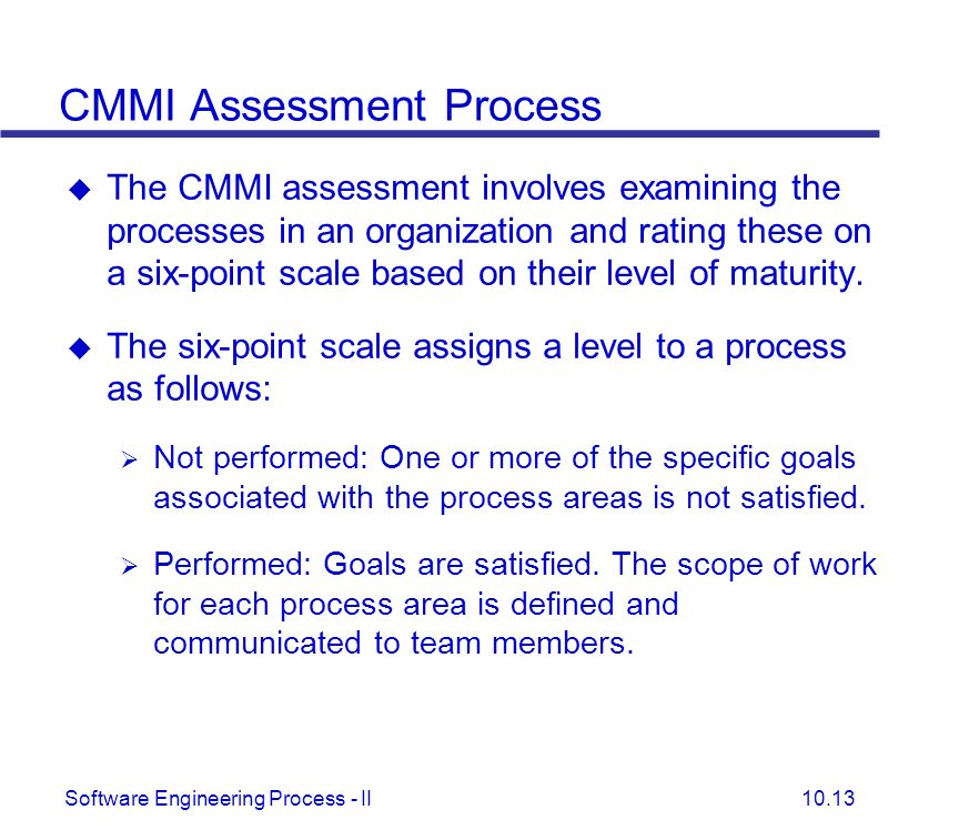 CMMI Assessment Process