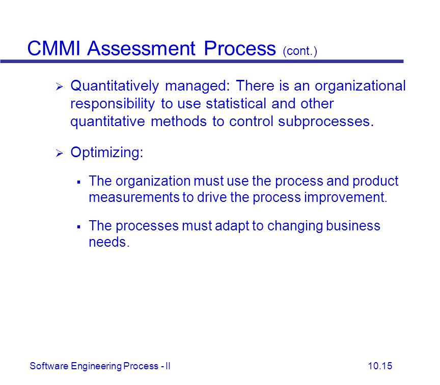 CMMI Assessment Process (cont.)
