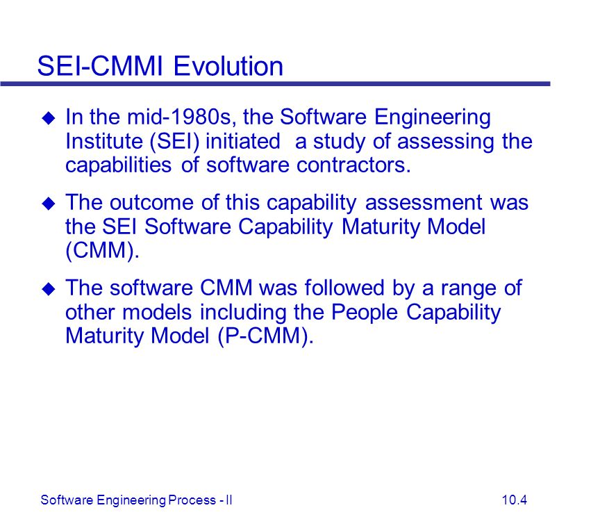 SEI-CMMI Evolution