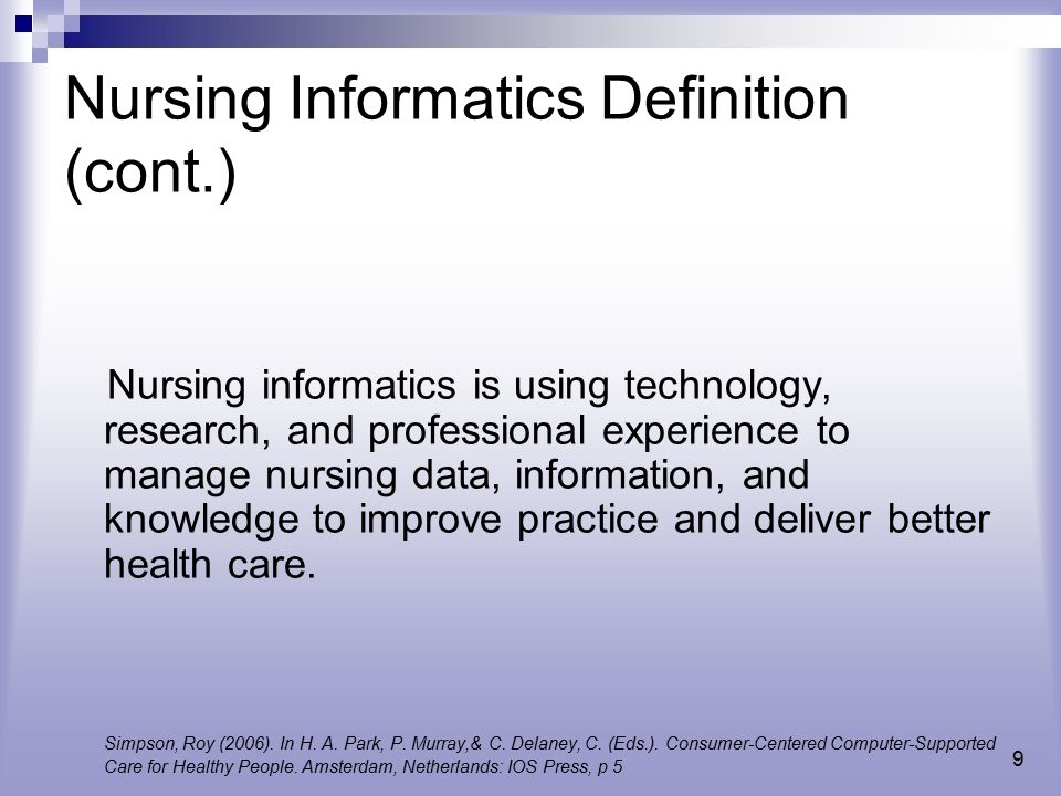personal definition of nursing The definition of nursing as put forward by the american nurses association describes a framework that incorporates caring and health promotion.