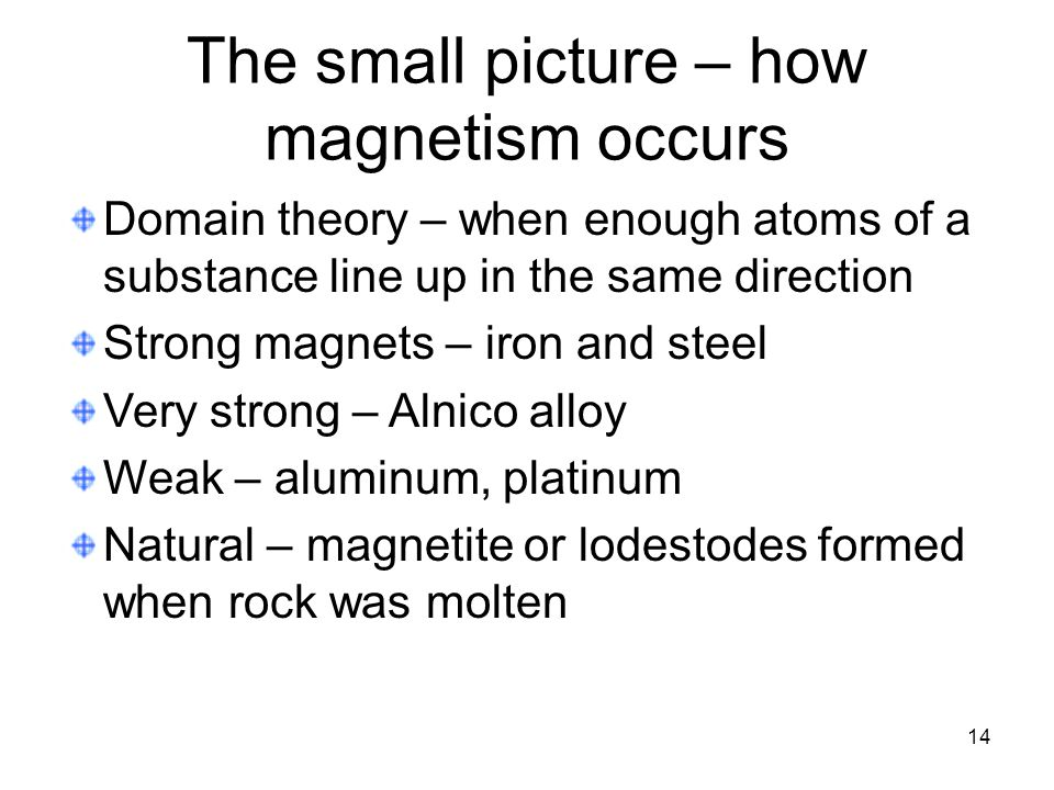 The small picture – how magnetism occurs