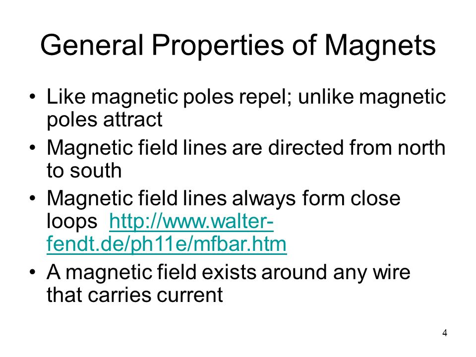General Properties of Magnets
