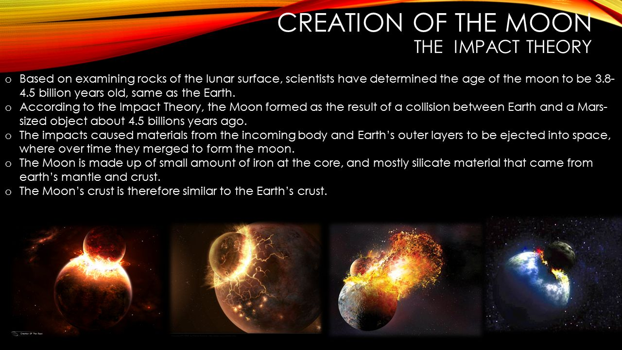 Creation of the moon The impact theory