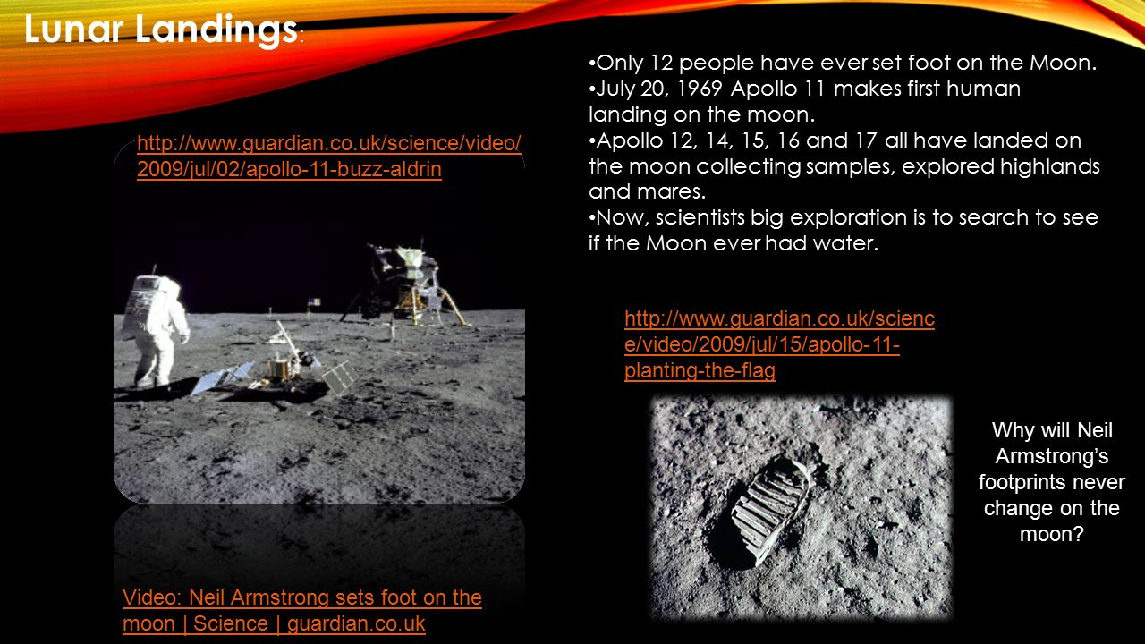 Why will Neil Armstrong's footprints never change on the moon