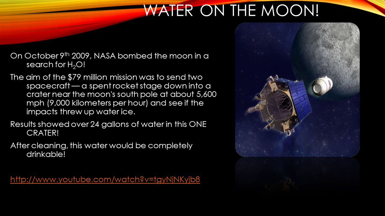 Water on the moon!