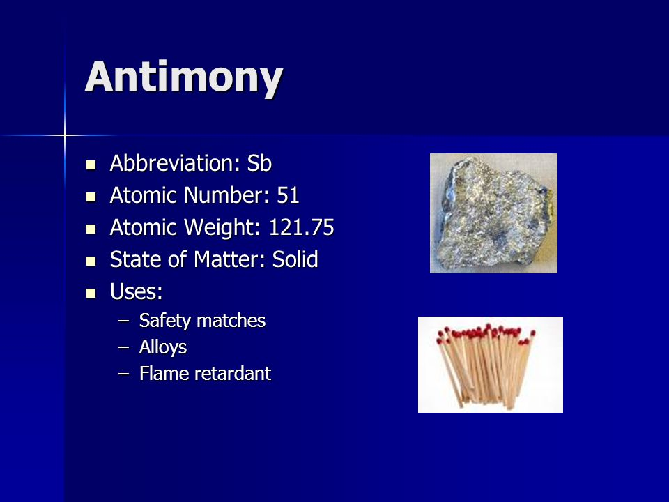The periodic table of elements ppt video online download 50 antimony urtaz Gallery