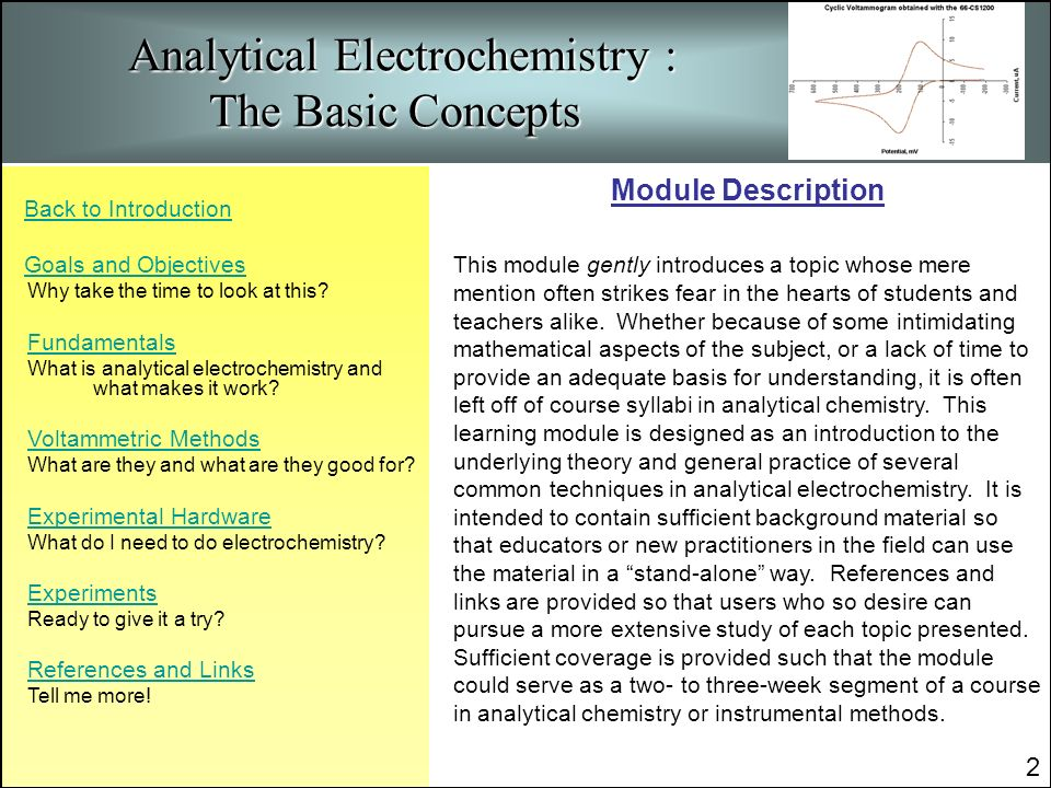 The common uses of electrochemistry