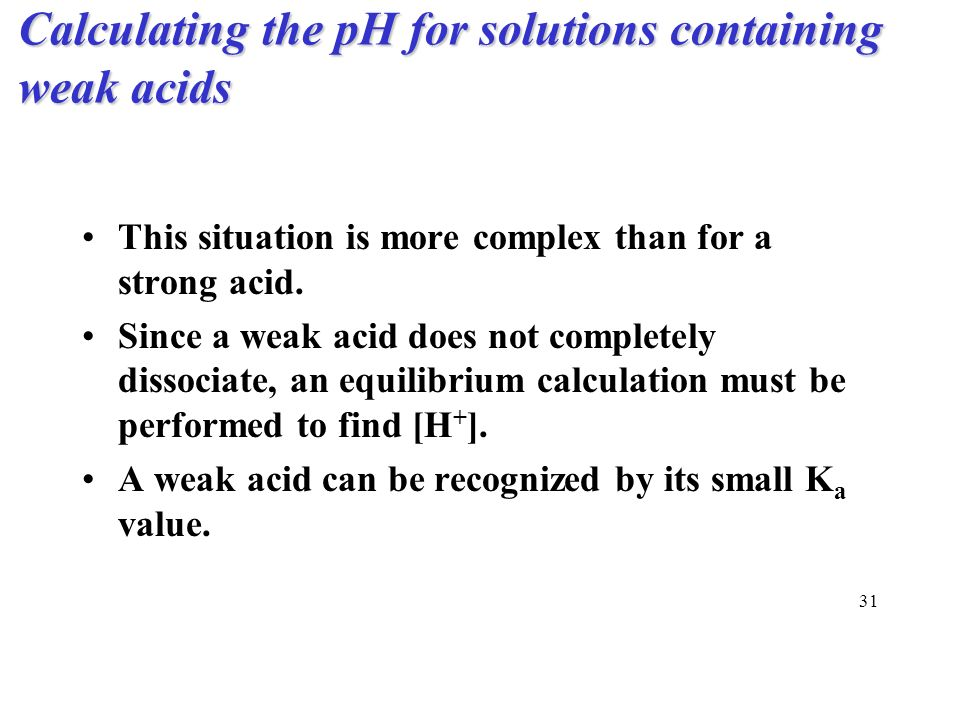 how to find the ph of a strong acid