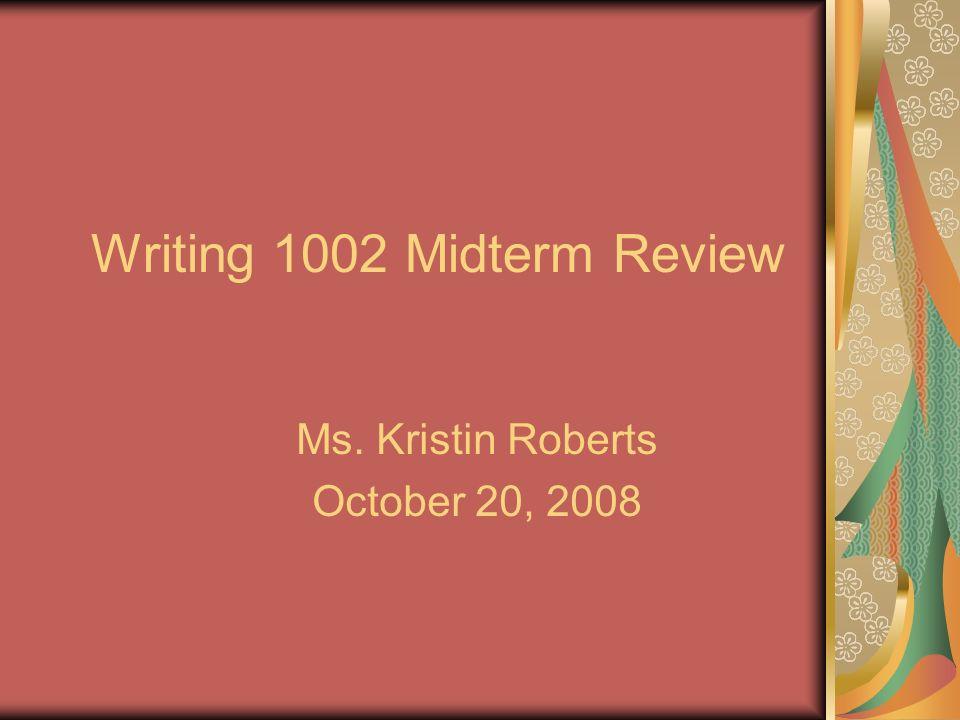 midterm review essay