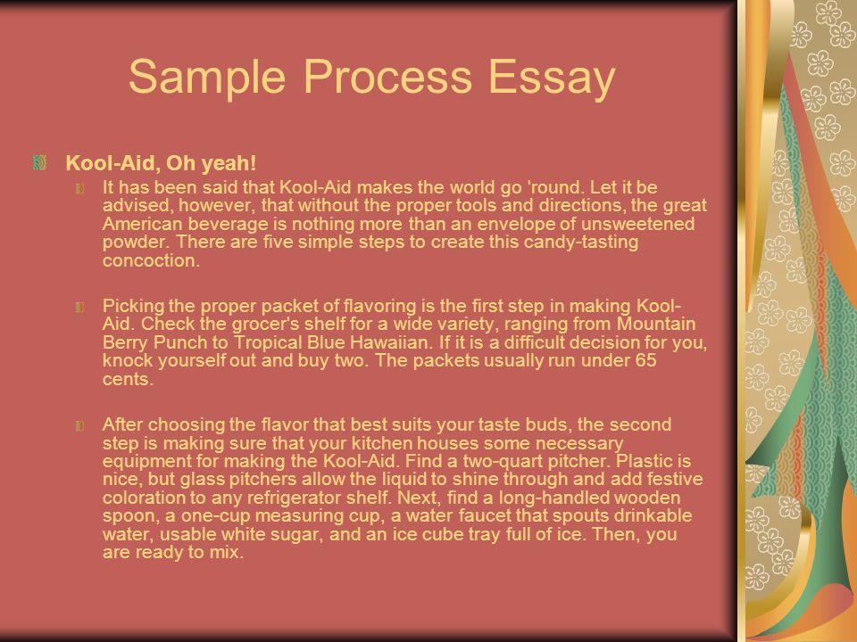 writing a process analysis paper