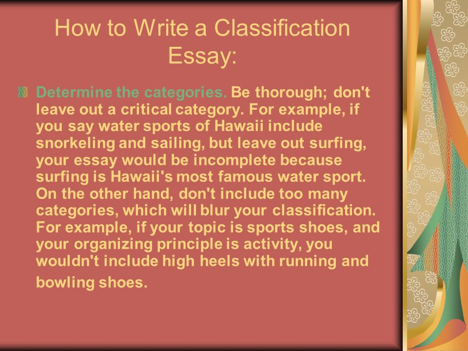 shoe classification essay