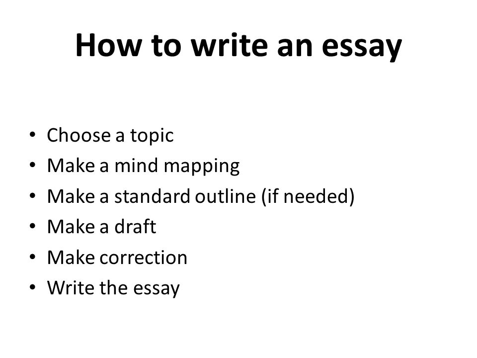 Essay correction key