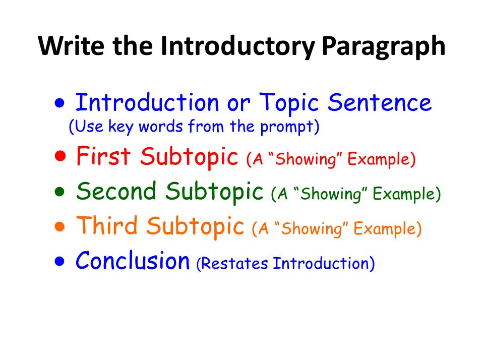 how to write topic sentence for how question