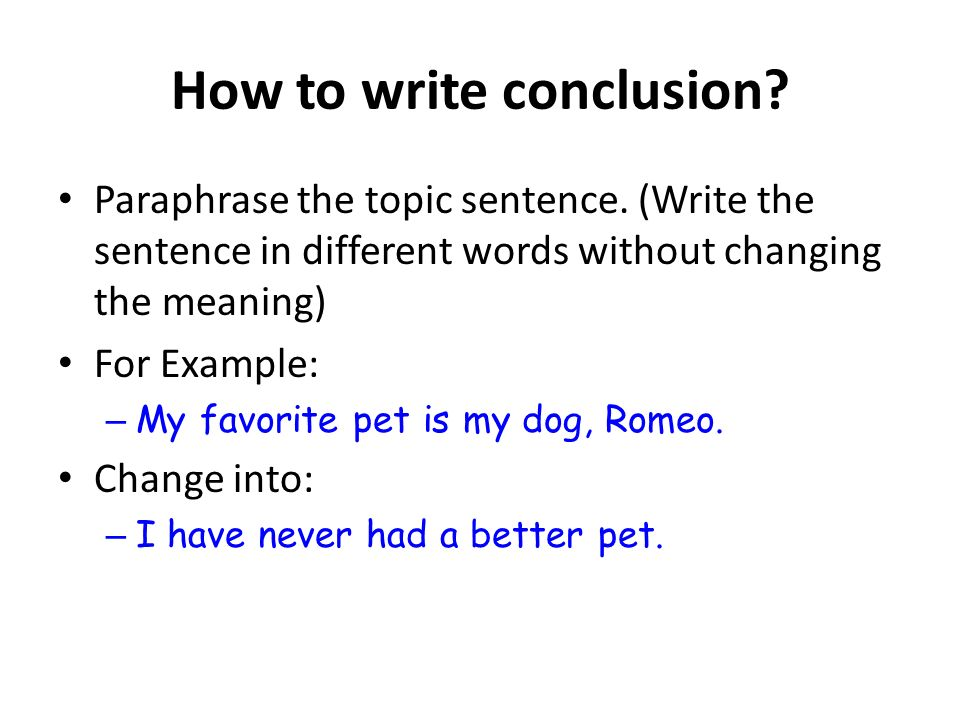 How to write an english dissertation conclusion