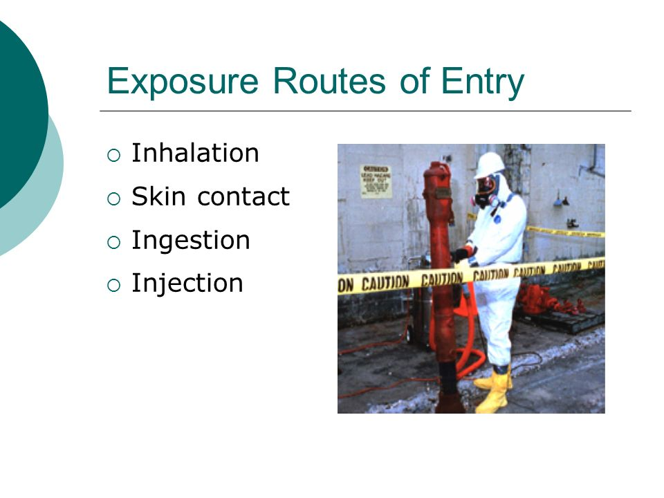 Exposure Routes of Entry