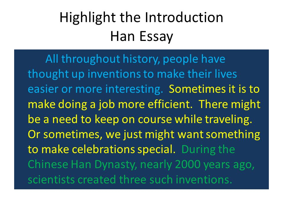 the essay step up to writing ppt video online  highlight the introduction han essay