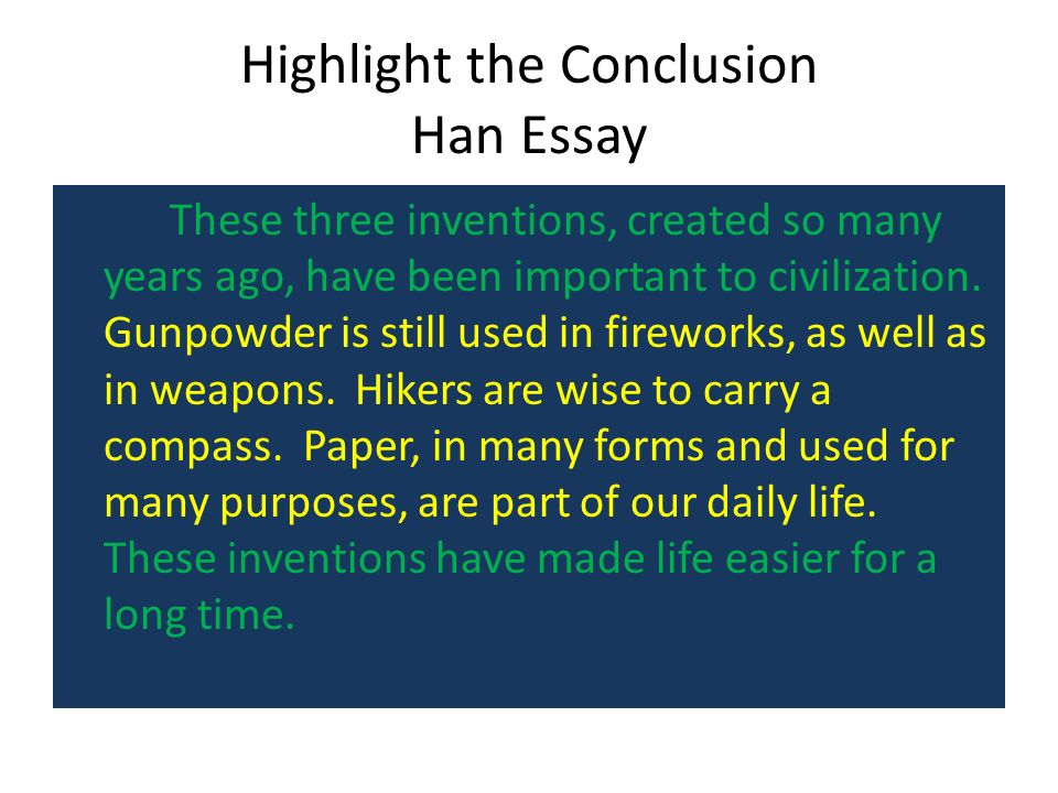 the essay step up to writing ppt video online highlight the conclusion han essay