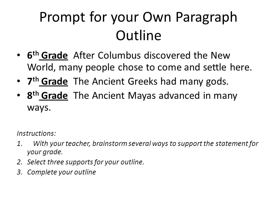 Write my 8 paragraph essay outline