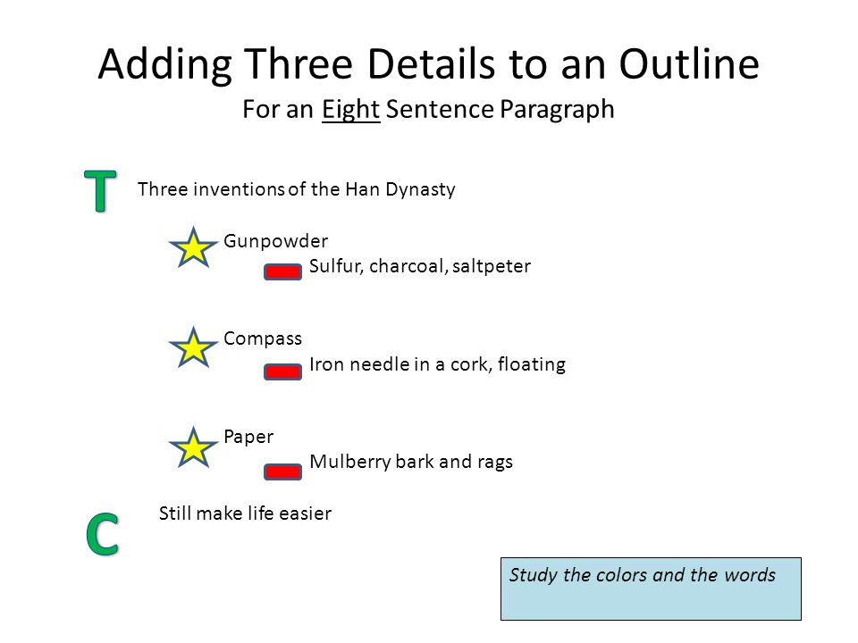 how to write an 8 sentence paragraph