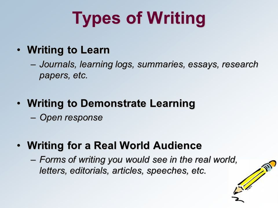 forms of writing an essay A step-by-step guide to writing a basic essay, along with links to other essay-writing resources.
