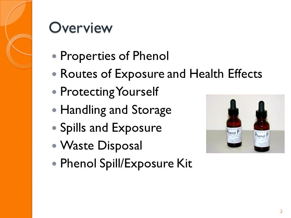Overview Properties Of Phenol Routes Exposure And Health Effects