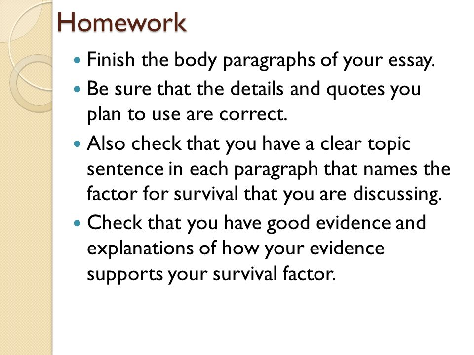 expository essay about survival Use this list of 20 essay conclusion examples that covers a range of topics and essay formats as a stepping stone to (learn more about writing expository essays.