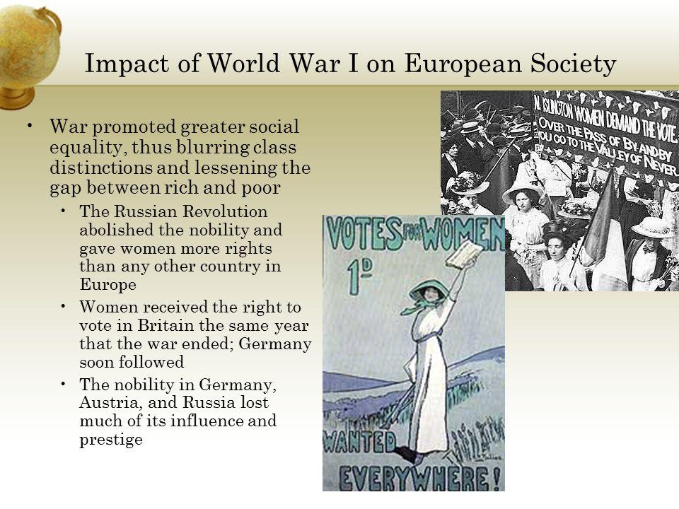 ww1s impact on european society