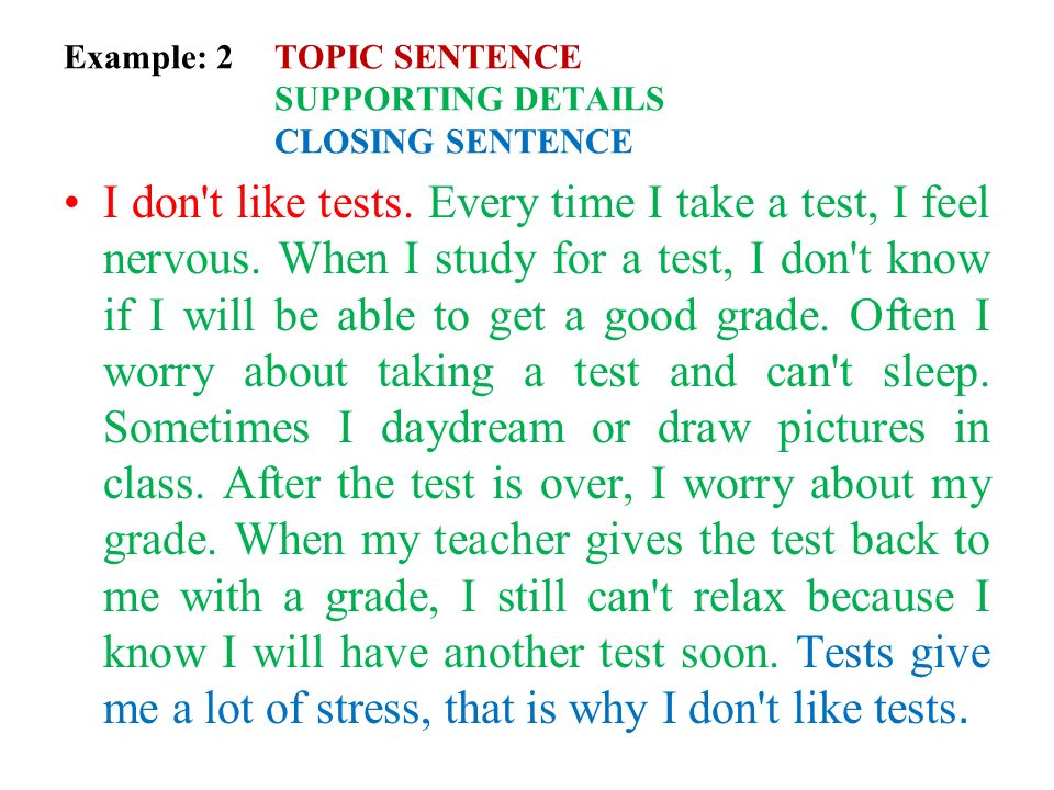 Worksheets Topic Sentence And Supporting Details The Best and – Topic Sentences Worksheet