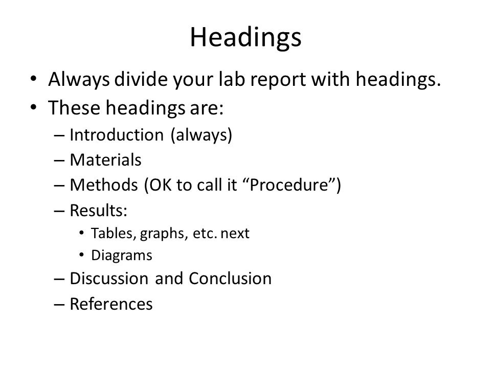 discussion in lab report • a general template for the lab report is available on the course each part of your discussion should be organized roughly as 2 the laboratory report.