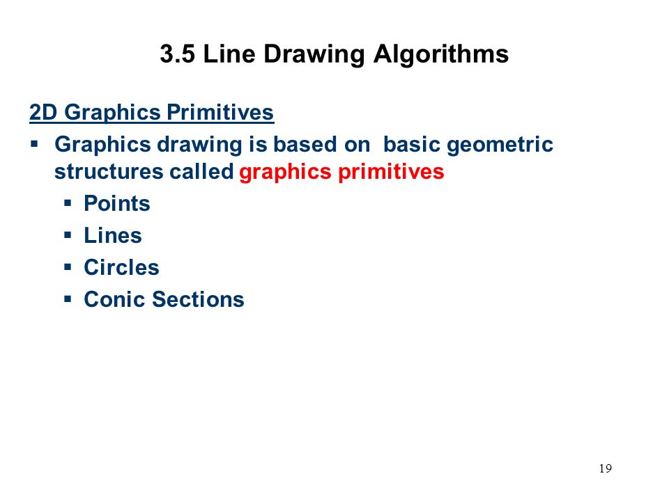 Line Drawing Algorithm In Computer Graphics Program : Computer graphics scc ppt video online download