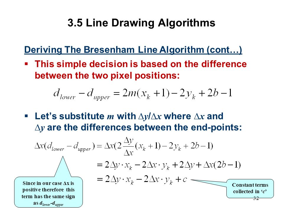 Line Drawing Using Bresenham Algorithm In C : Computer graphics scc ppt video online download