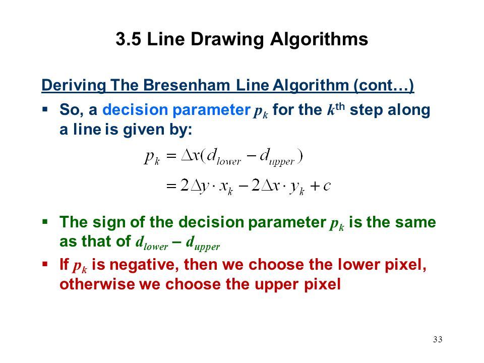 Bresenham Line Drawing Algorithm For Negative Slope : Computer graphics scc ppt video online download