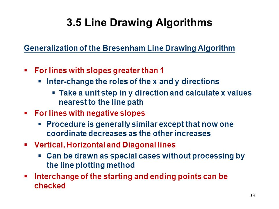 Bresenham Line Drawing Algorithm With Slope Greater Than 1 : Computer graphics scc ppt video online download