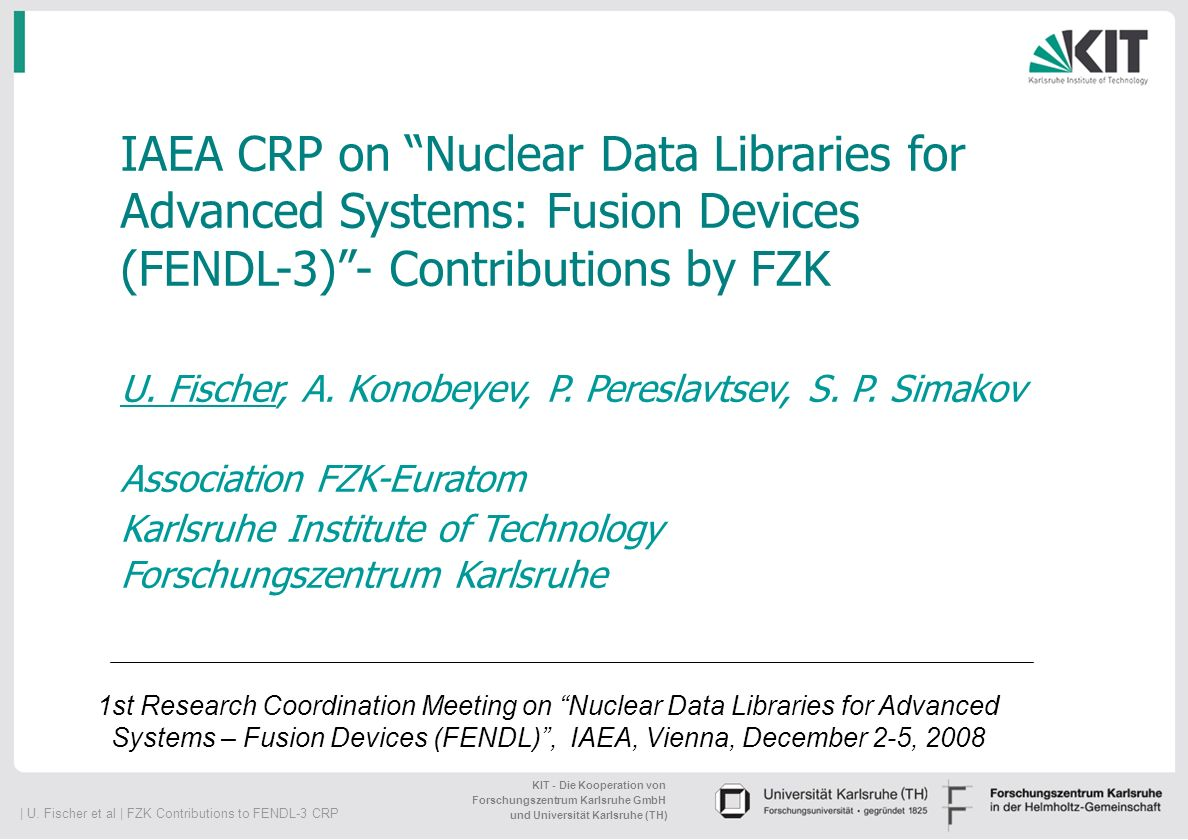 IAEA CRP on Nuclear Data Libraries for Advanced Systems: Fusion Devices (FENDL-3) - Contributions by FZK