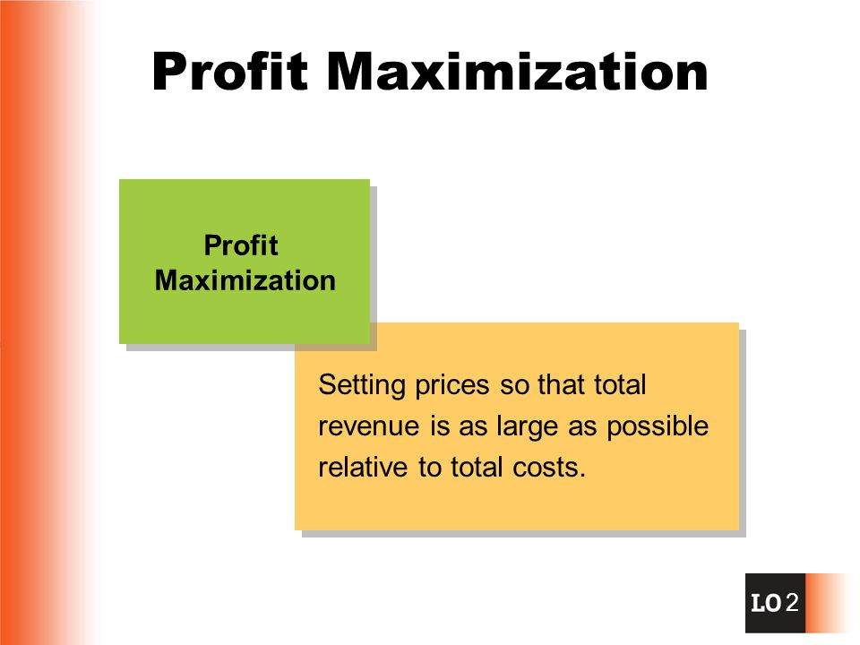 the profit maximization is not an Start studying chapter 28 learn vocabulary,  profit maximization occurs when  a perfectly competitive firm will not earn an economic profit in the long run,.
