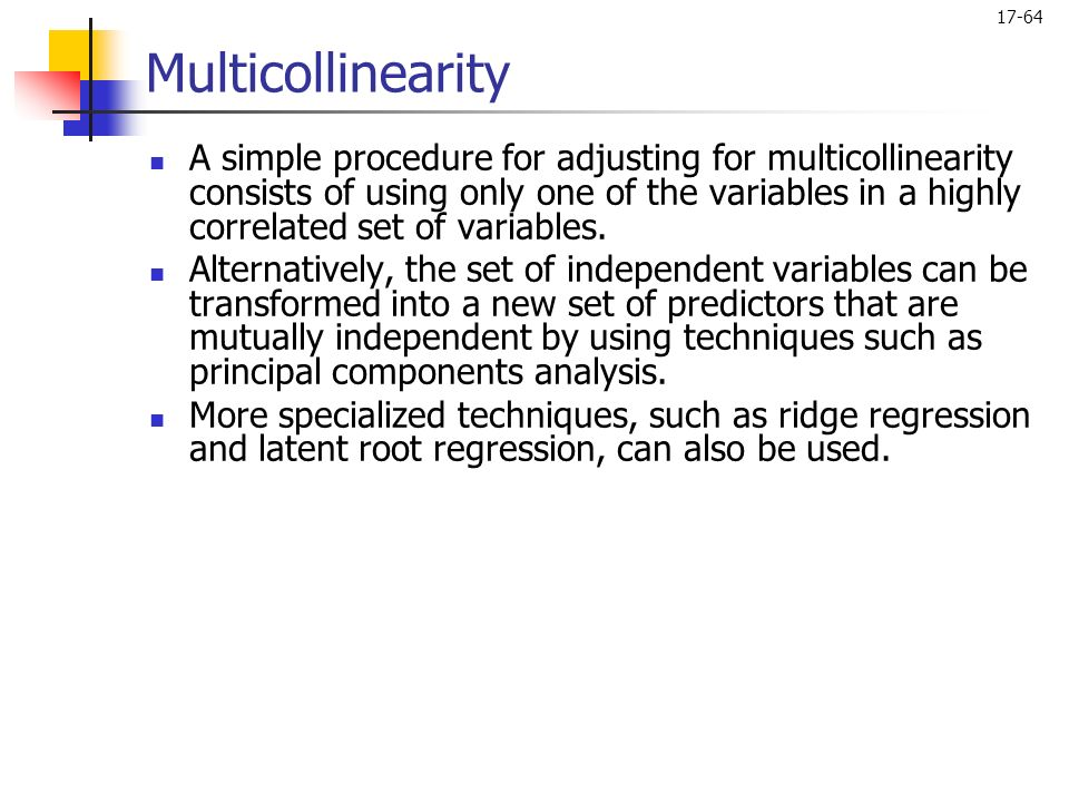 multicollinearity in regression analysis pdf