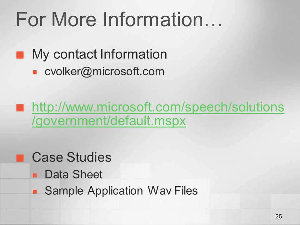 microsoft contact information